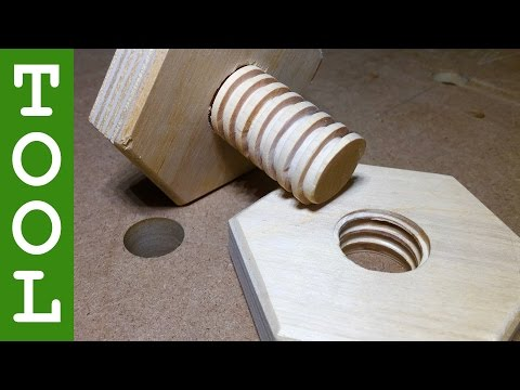 How to Make Wooden Hex Nuts