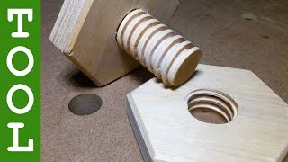 This Is Nuts! – Router Jig Makes Wooden Hex Nuts