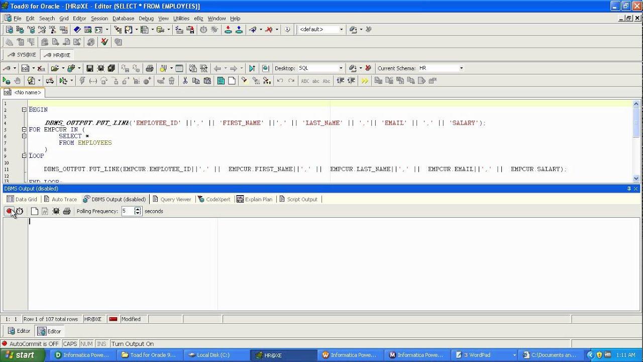 Oracle Spool File Creation avi