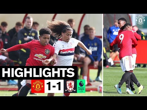 U18 Highlights | Manchester United 1-1 Middlesbrough | The Academy