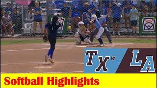 Robinson, TX vs Kenner, LA Softball Highlights, 2021 Little League Southwest Region Elimination Game