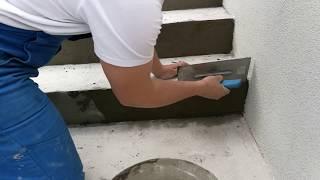 Oprava podlahy - oprava schodov pomocou sanačných mált