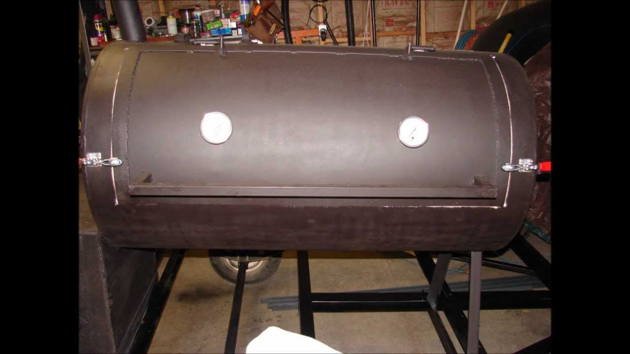 How To Build A Smoker Trailer Out Of Old Tank And