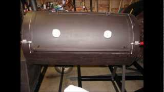 How To Build A Smoker Trailer Out Of Old Tank And Fireplace Insert