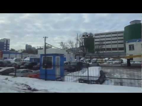 Downtown Kiev by metro & Airbus № 322 to Boryspil Airport 2012-12-30
