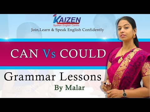 Learn English with Kaizen through Tamil - Can Vs Could