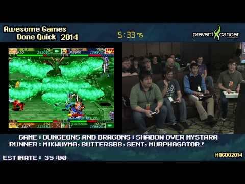 Dungeons & Dragons: Shadows Over Mystara :: SPEED RUN Live Co-op (0:23:03) #AGDQ 2014