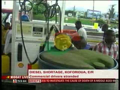 Midday Live - Koforidua Commercial Drivers  Hit by  Diesel Shortage -21/8/2014