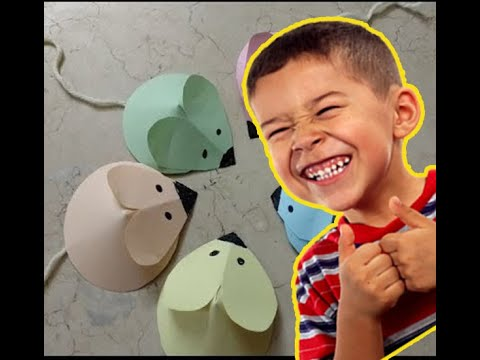 Make SUPER EASY Paper Mice with your Kids + DIY Paper Crafts for Kids !
