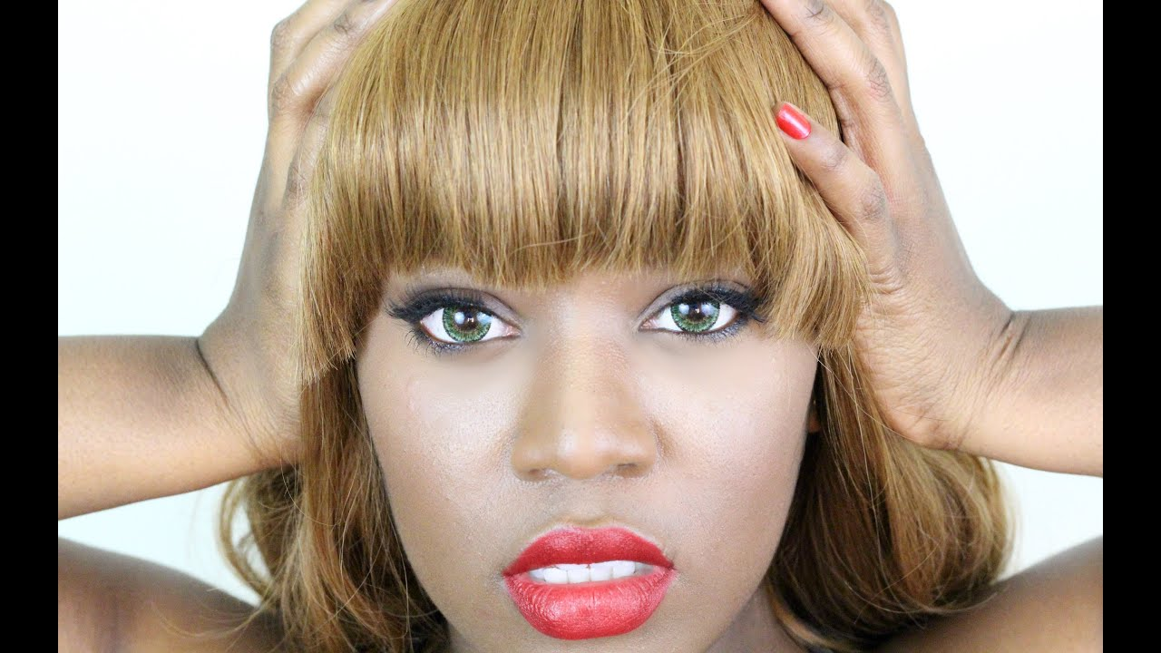 How To Make A Quick Weave With Chinese Bangs Tutorial