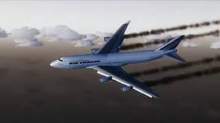 Emergency Landing Air France 747-400 Honolulu - [Runsame Classics] FSX