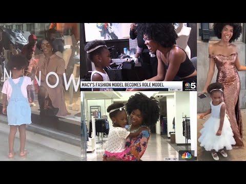 Representation Matters - Heartwarming Video of Black Girl Bonding with Macy's Window Model