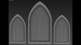Autodesk 3ds Max Gothic arch window: Class lecture recap
