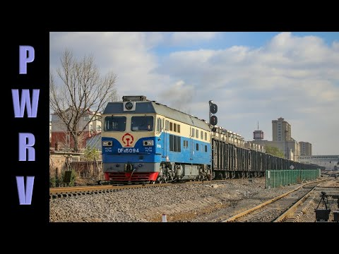 Chinese Diesels - Various trains around Chifeng, Inner Mongolia, 02 Nov 2014