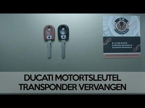 Ducati key shell change, replace / Ducati motorsleutel