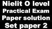 Nielit O Level Practical Exam Paper Solution and Guide July