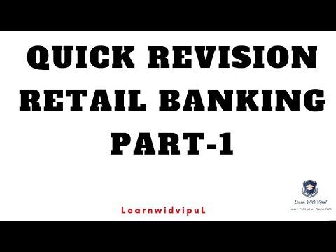 QUICK REVISION-1 || RETAIL BANKING || CAIIB