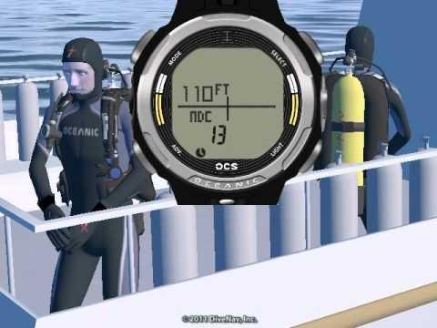 Oceanic OCS Dive Computer - Normal Dive