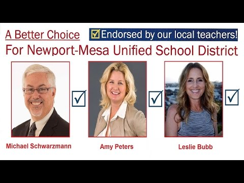 Michael Schwarzmann – Candidate for Newport-Mesa Unified School District