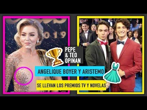 Premios TVyNovelas: Angelique Boyer con vestido al revés y le roban premio a los Aristemos