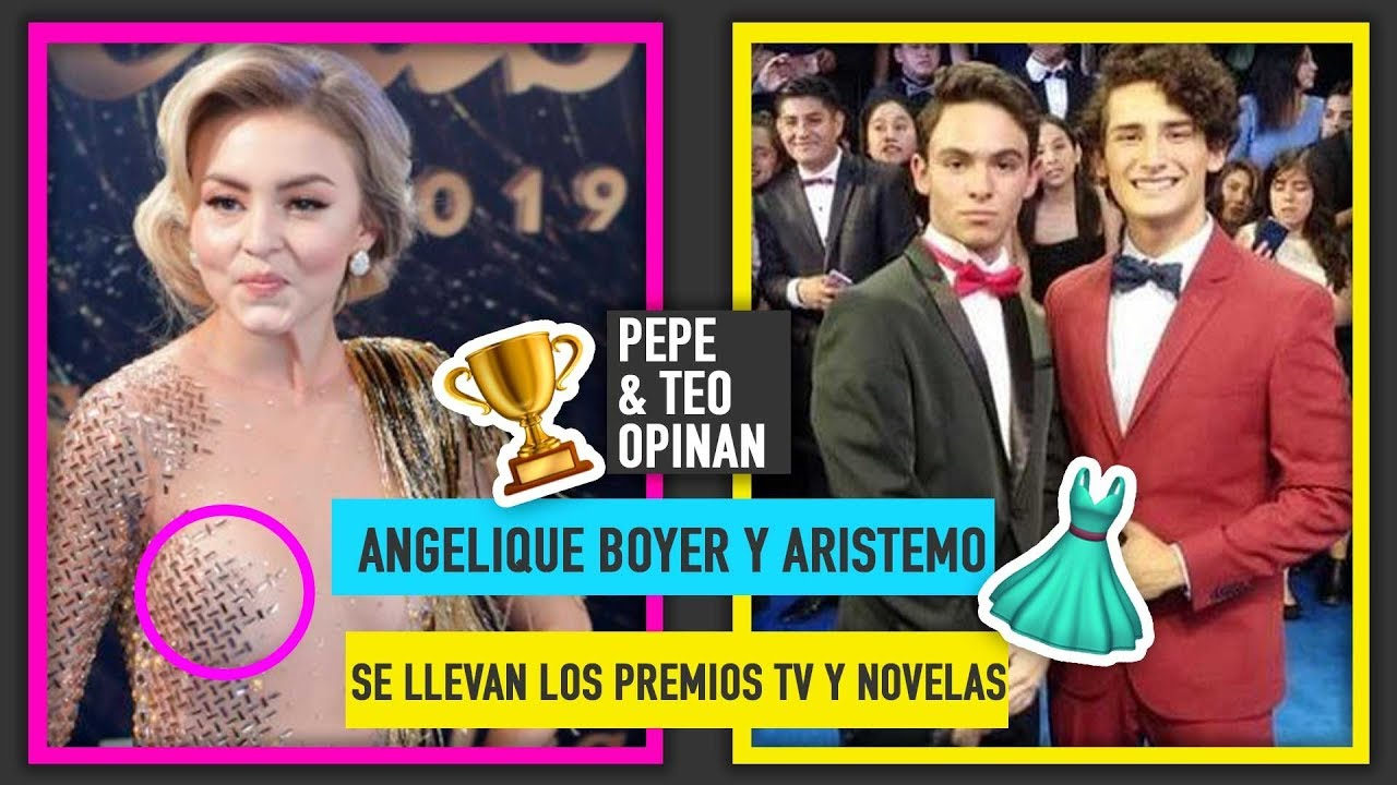 Premios Tvynovelas Angelique Boyer Con Vestido Al Revés Y Le Roban Premio A Los Aristemos