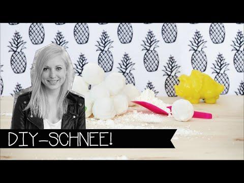 diy schnee einfach selber machen kunstschnee youtube. Black Bedroom Furniture Sets. Home Design Ideas