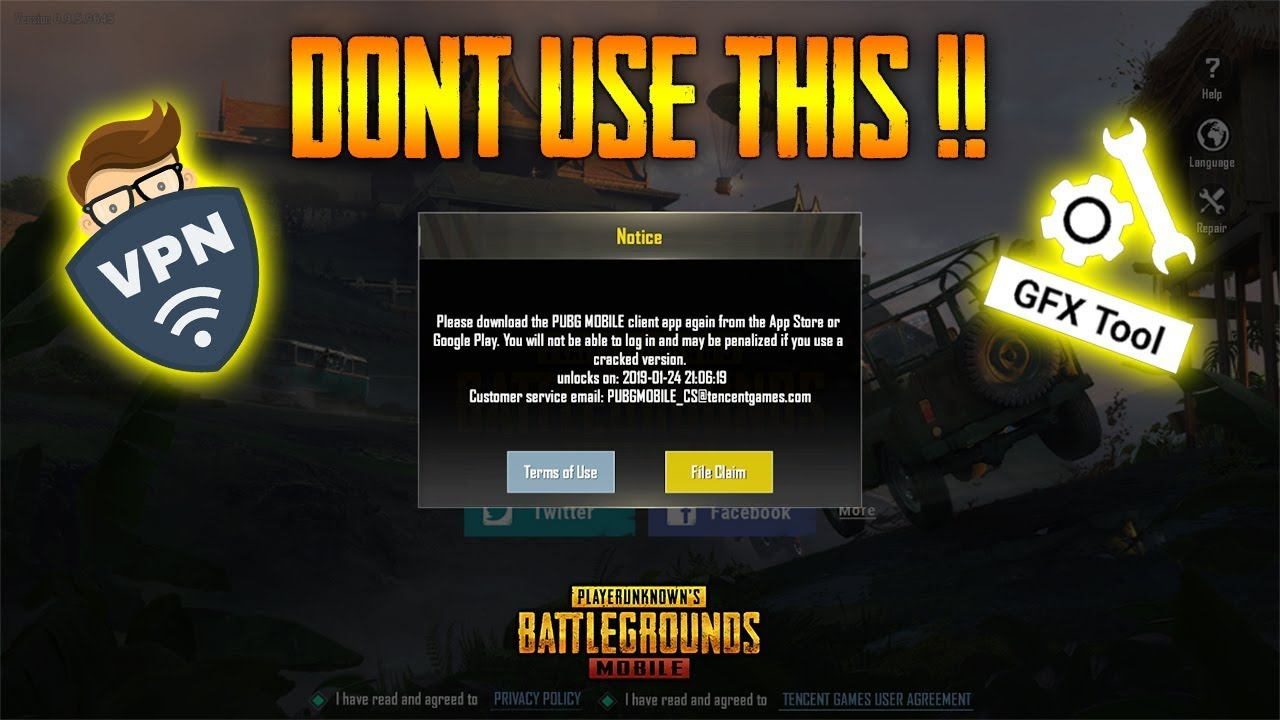 PUBG Mobile VPN + GFX Tool User will Get *BAN | TRUTH of