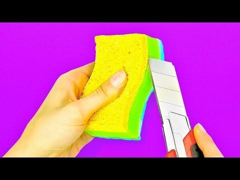 Как сделать игольницу из губки для мытья посуды