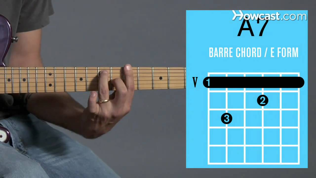 How To Play An A7 Barre Chord Guitar Lessons Youtube