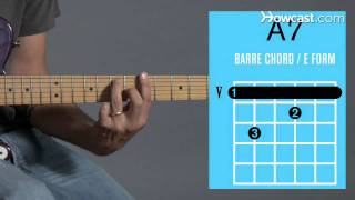 how to play an a7 barre chord   guitar lessons