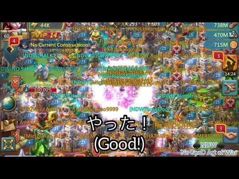ロードモバイル Lords Mobile NDW No GooD Art of War オンラインの4.7億 罠城にトリプルラリー Japanes English