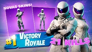 WE BOUGHT THE NEW NINJA BIKER SKINS and WE DID 21 KILLS-Fortnite