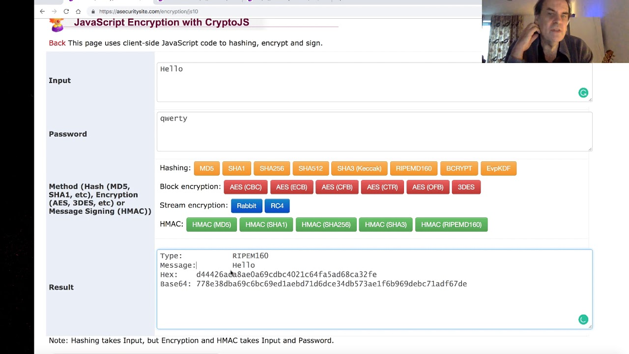 JavaScript Encryption with CryptoJS