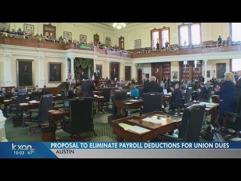 Proposal to eliminate payroll deductions for union dues