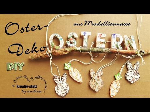 DIY Deko Ostern - aus Modelliermasse Relief Serviettentechnik / Wie man