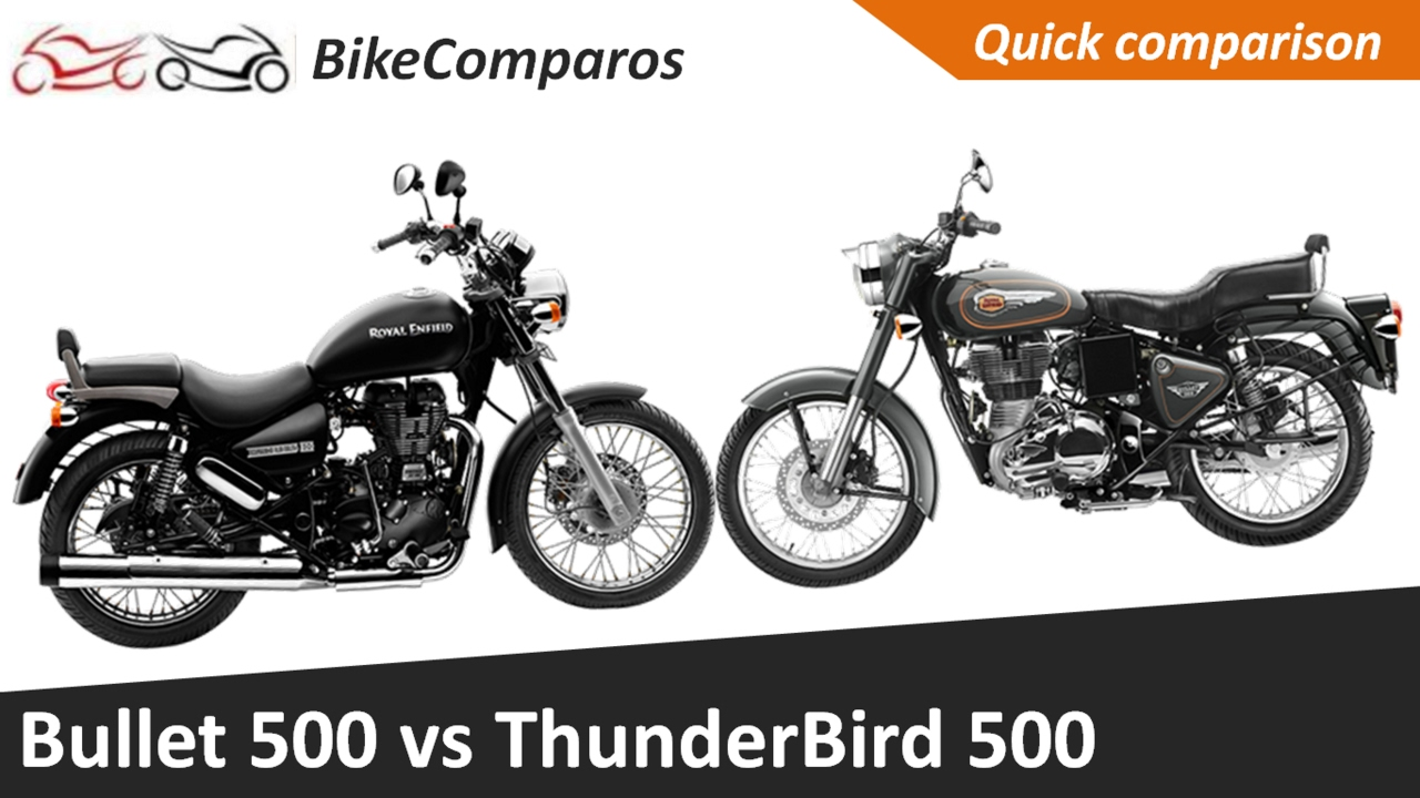 bullet 500 vs thunderbird 500 comparison review youtube