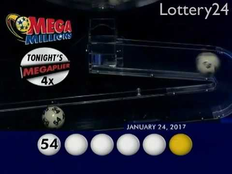 2017 01 24 Mega Millions Numbers and draw results