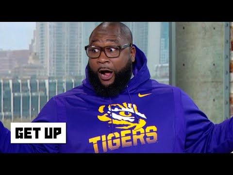 DJ Slab 1 - LSU alum Marcus Spears stunts in Tigers gear after beating Alabama