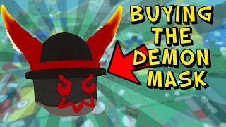 My Girlfriend Buys The Demon Mask In Roblox Bee Swarm Simulator