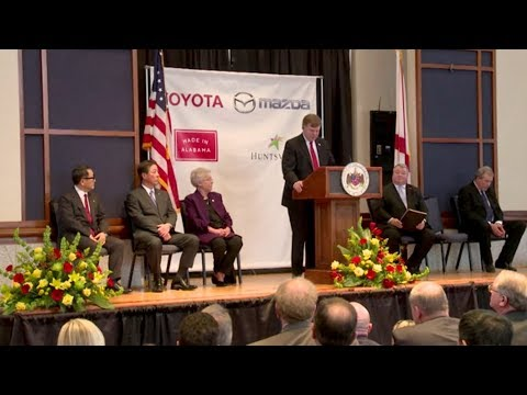 Toyota and Mazda Announce New Alabama Plant - Full Press Conference