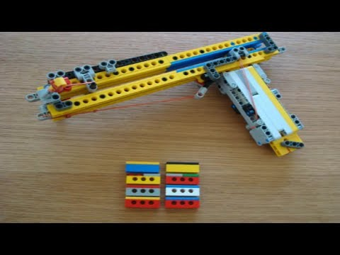 how to build a working lego gun step by step