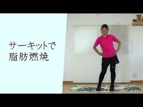 25簡単エアロビ50代ダイエット運動6 サーキットトレーニングで脂肪燃焼