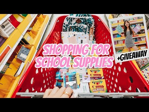 Shopping For Back To School Supplies + Giveaway 2019!