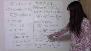 初めての量子化学 12. シュレディンガー方程式の導出