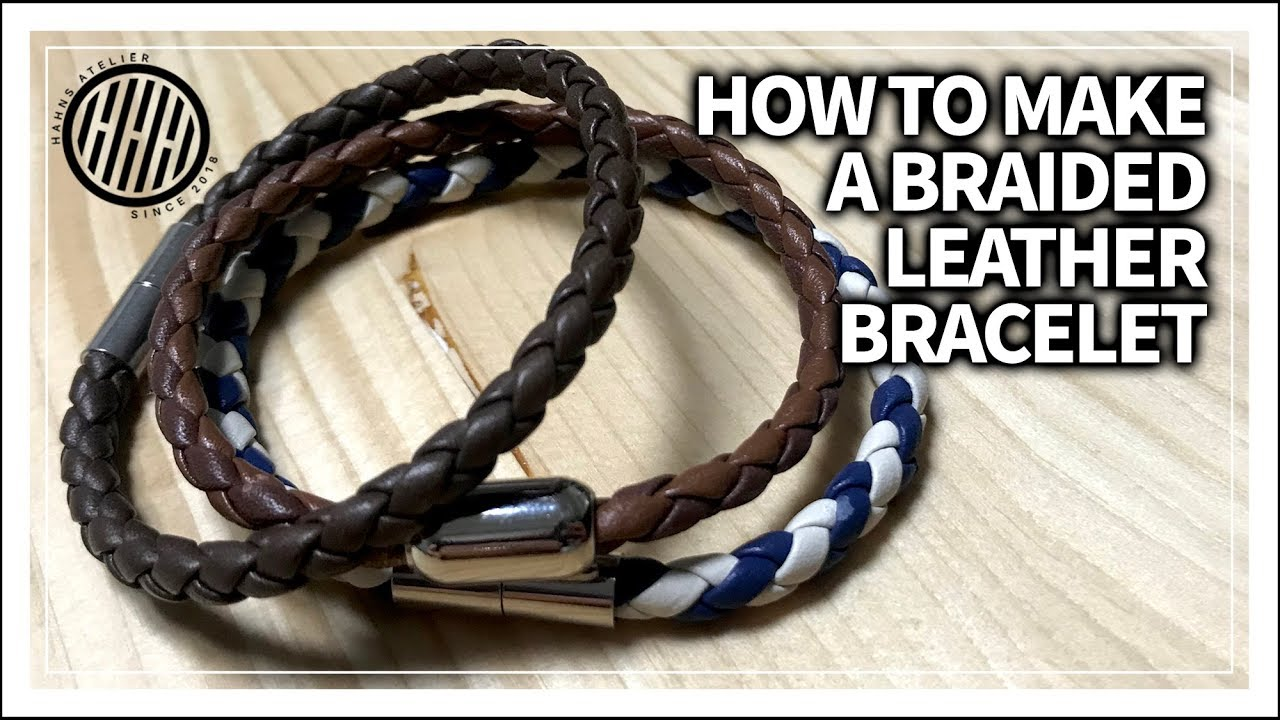 Leather Craft How To Make A Braided Bracelet