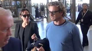 Simon Baker And Rebecca Rigg Jet Out Of LAX Sans Kids