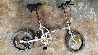Restoring a Folding Bicycle! Cleaning, repairing, painting & customizing my bike