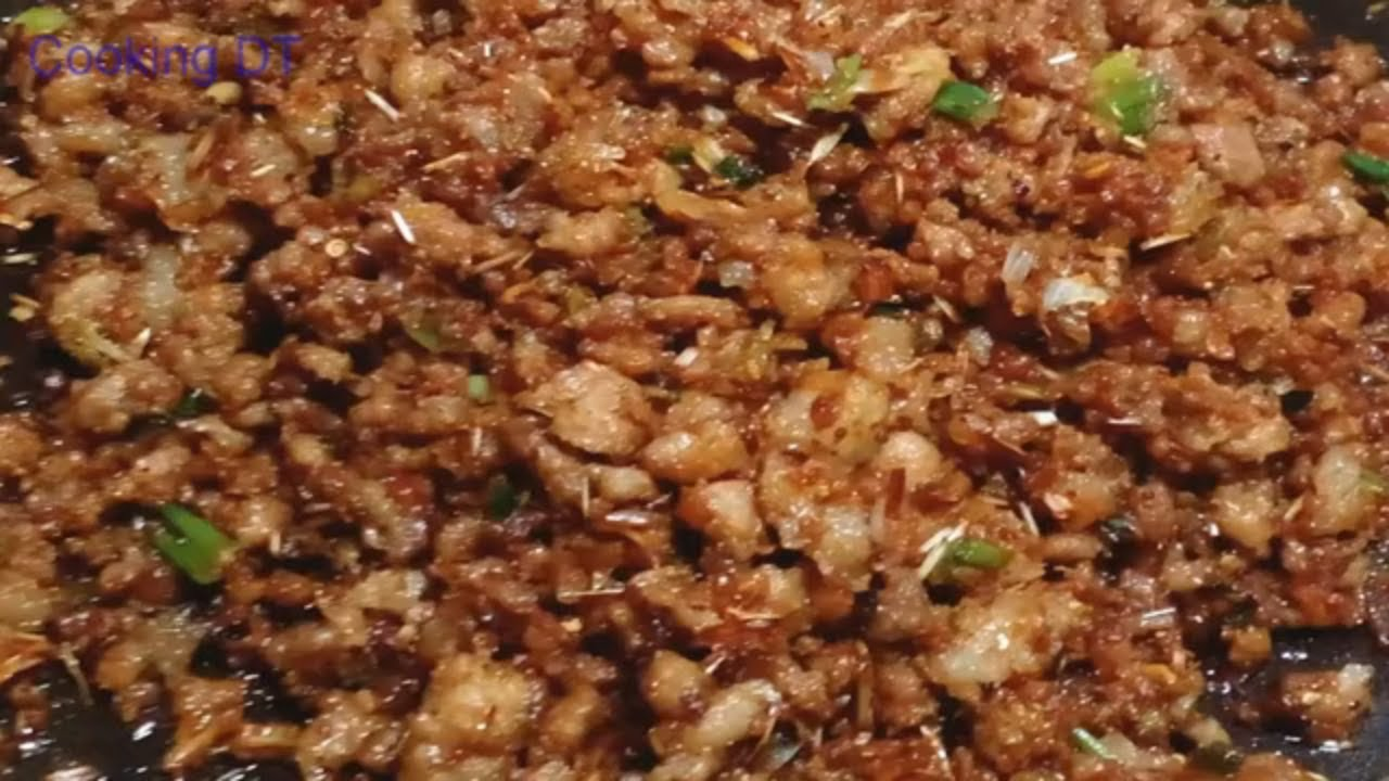 THỊT BẰM RANG MẮM RUỐC – Món ăn dân dã siêu ngon cho ngày mưa gió/By Cooking DT