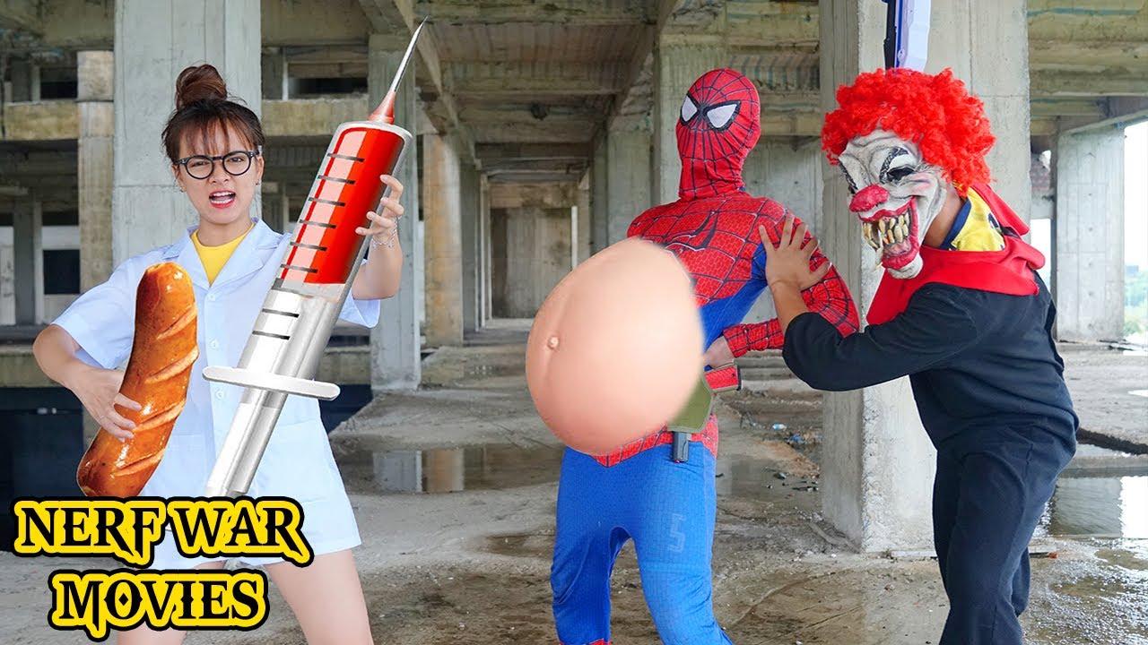 Download Nerf War Movies: Nurse Spider X Warriors Nerf Guns Fight Criminal Group Prank Funny Battle