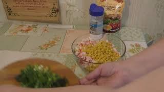 Салат «крабовый» со свежим огурцом